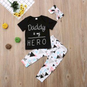 oblačila za otroke, dojenčke deklice , dolge hlače, majica, naglavni trak
