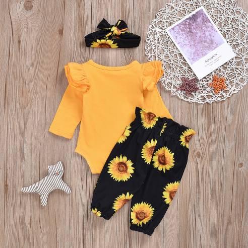oblačila za otroke, dojenčke deklice bodi bombaž dolgi rokav sončnie
