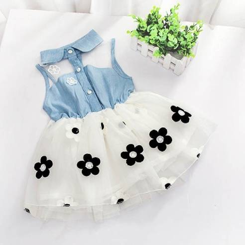 oblačila za otroke, deklice, dojenčke, obleka z rožicami