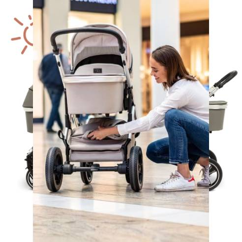 Otroški voziček Moon Nuova City 2v1 nakupovalna košara