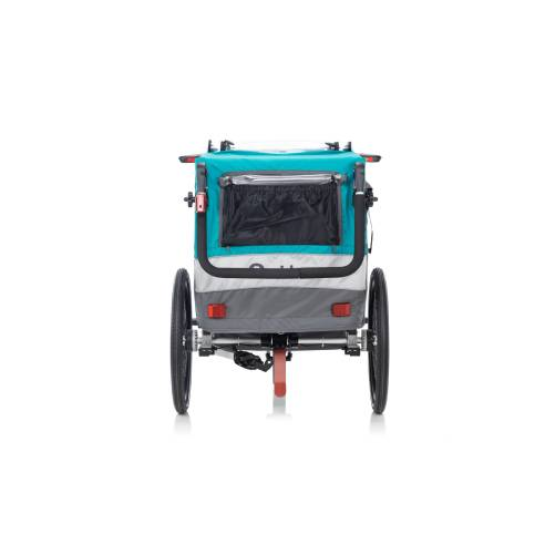 Qeridoo Sportrex-2 Aquamarin, otroška prikolica za na kolo