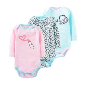 oblačila za otroke, dojenčke deklice; bodi 3 kos v kompletu
