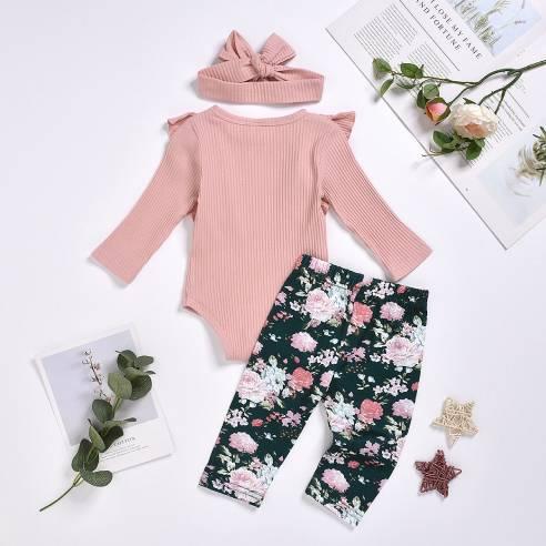 oblačila za otroke, dojenčke deklice bodi bombaž, hlače bombaž