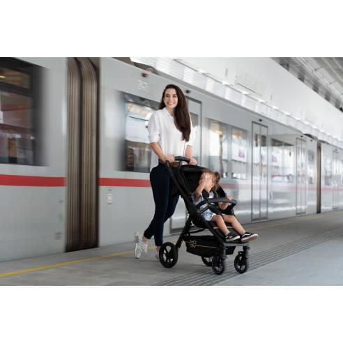 Moon Jet Black, športni otroški voziček