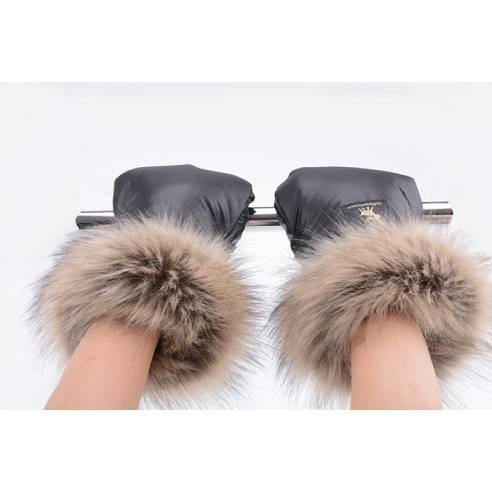 Rokavice Cottonmoose black za otroški voziček