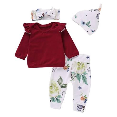 oblačila za otroke, deklice, dojenčke, v kompletu hlače, pulover, kapa