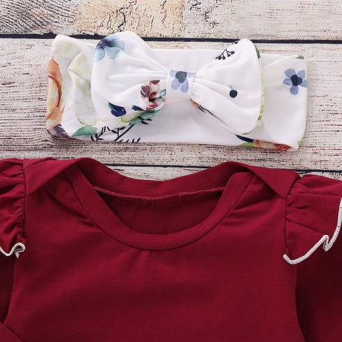 oblačila za otroke, deklice, dojenčke, komplet, hlače, majčka, trak