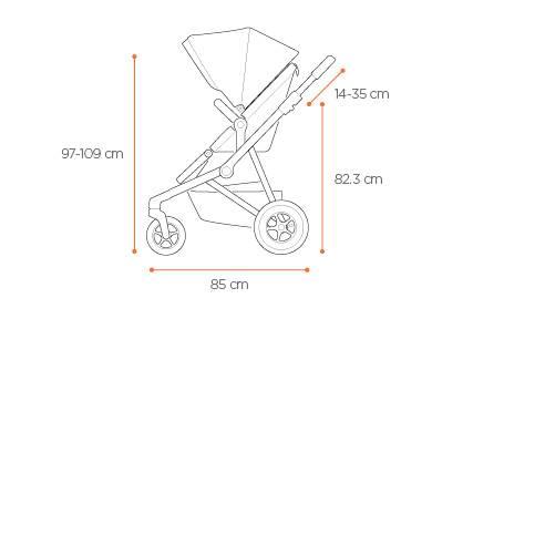 Thule Sleek 2v1 športni sedež, otroški voziček