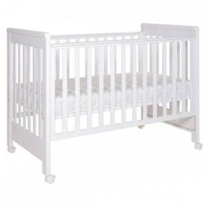 Otroška posteljica 60 x 120 cm, bela Treppy