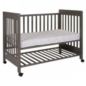 Otroška posteljica 60 x 120 cm siva, Treppy