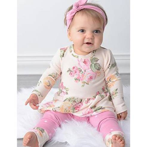 oblačila za otroke, dojenčke deklice, hlače, majica, trak
