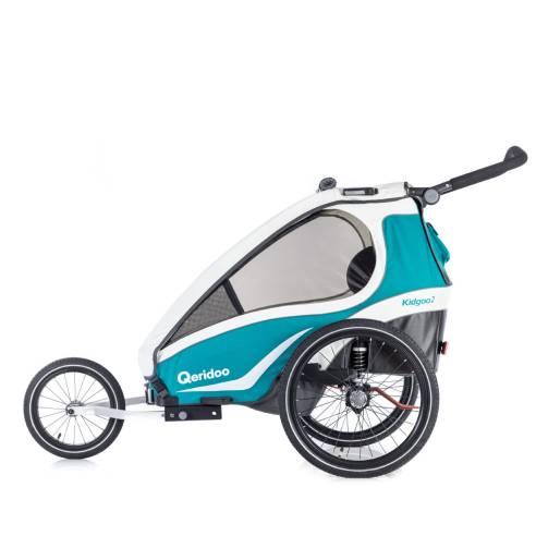 Qeridoo KidGoo-2 Aquamarin, otroška prikolica za na kolo