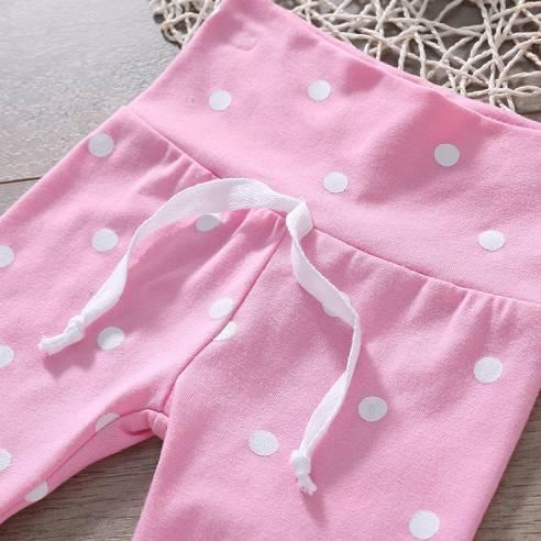 oblačila za otroke, dojenčke deklice komplet hlače, majica dolgi rokav, trak
