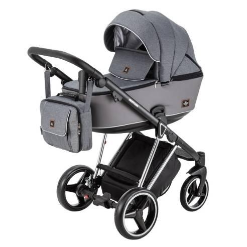 Otroški voziček Adamex Cristiano Special edition Sv. siva 01
