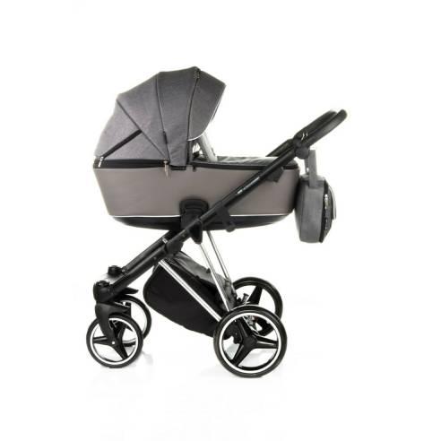 Otroški voziček Adamex Cristiano Special edition Sv. siva 02