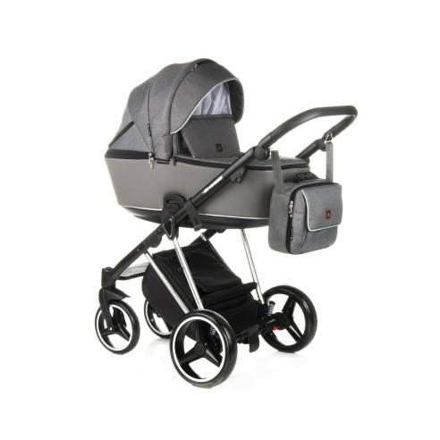 Otroški voziček Adamex Cristiano Special edition Sv. siva 10