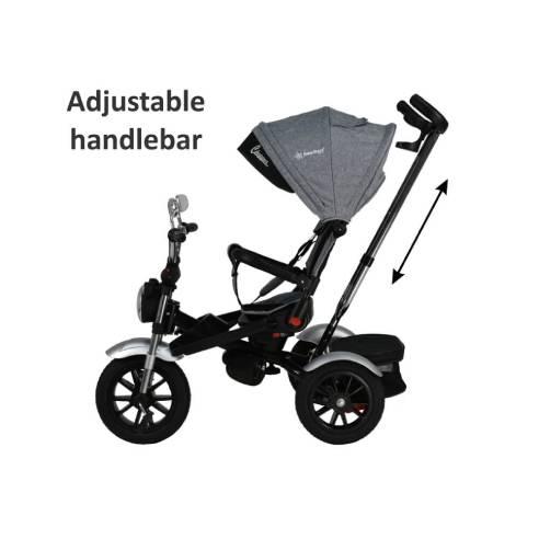 Tricikel Chopper 6v1 za otroke od 9 mesecev do 5 let za potepanje 3 točkovni varnostni pas