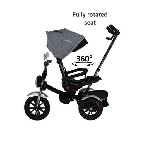 Tricikel Chopper 6v1 za otroke od 9 mesecev do 5 let za potepanje , sedež 360° vrtenje