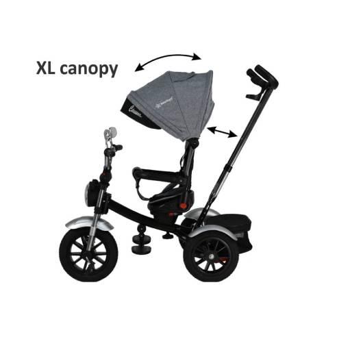 Tricikel Chopper 6v1 za otroke od 9 mesecev do 5 let za potepanje , strehica UV zaščita