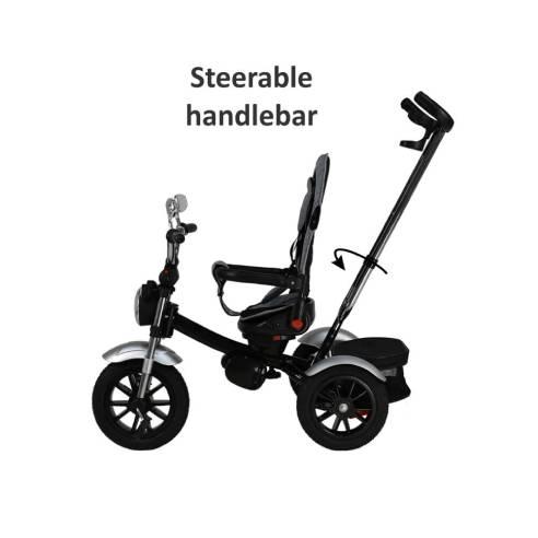 Tricikel Chopper 6v1 za otroke od 9 mesecev do 5 let za potepanje, potisni ročaj