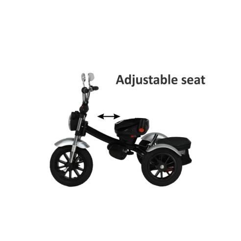 Tricikel Chopper 6v1 za otroke od 9 mesecev do 5 let za potepanje vrtljivi sedež