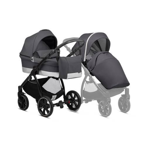 Otroški voziček Noordi Sole Go antracite 623, 2v1