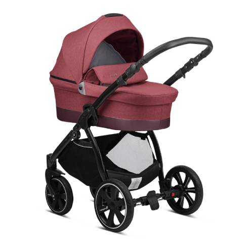 Otroški voziček Noordi Sole Go, 628 Garnet, globoka košara