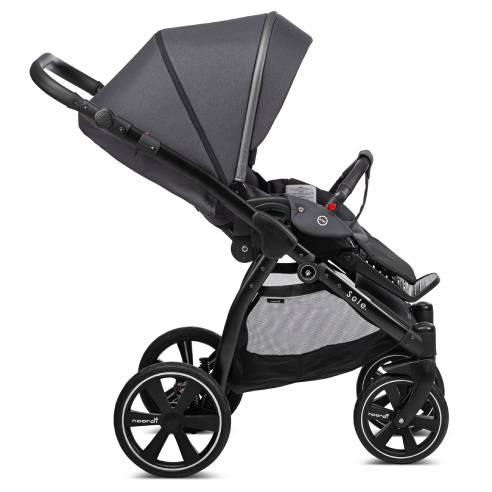 Otroški voziček Noordi Sole GO, črna, black