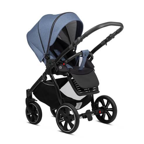 Otroški voziček Noordi Sole Go 629 blue jeans, športni sedež