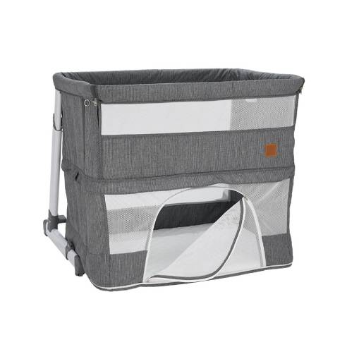 Obposteljna posteljica za dojenčka siva