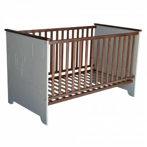 Otroška postelja Leaf 140x70 rjava