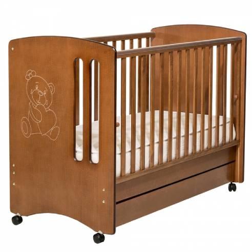 Otroška postelja Pretty 120x60cm rjava