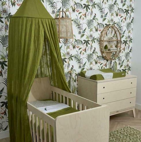 baldahin za otroško sobico, avokado