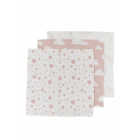 pleničke pink, white, 3x, 70x70cm