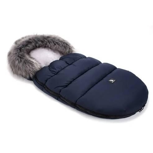 Zimska vreča Cottonmoose za otroški voziček Dark Blue, modra