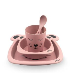 Jedilni set za otroka Jollein pink 01