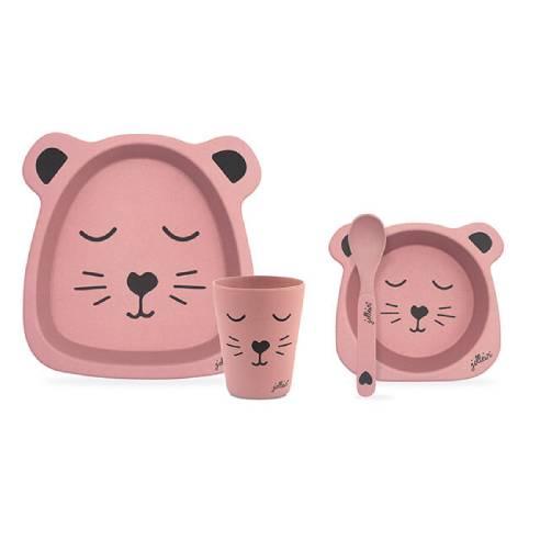 Jedilni set za otroka Jollein pink 02