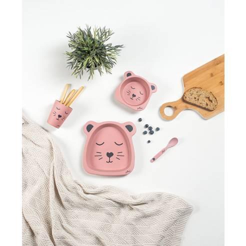 Jedilni set za otroka Jollein pink 03