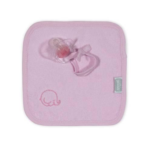 Priponka za dudo Jollein krpa pink 01