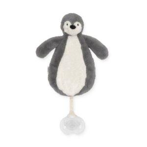 Priponka za dudo pingvin grey Jollein