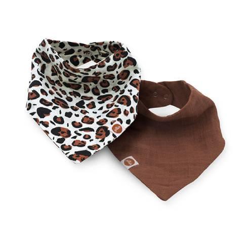 Slinček rutica za dojenčka Jollein leopard 01
