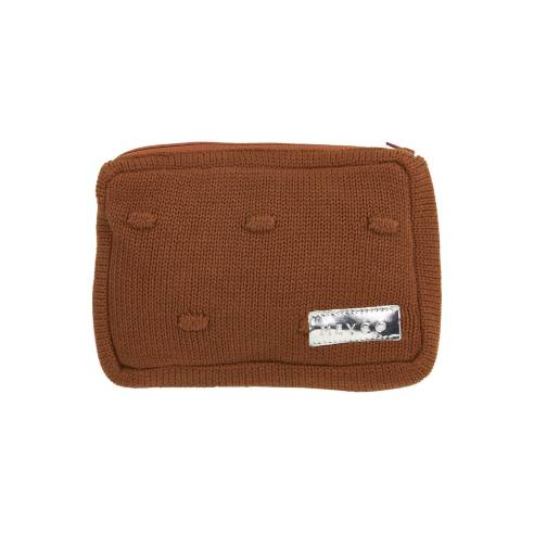 Pletena torbica za vlažilne robčke, Caramel