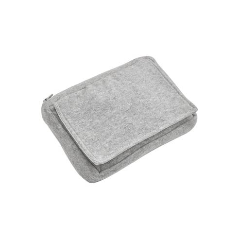 Pletena torbica za vlažilne robčke, Svetlo siva