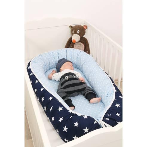 Gnezdo za dojenčka modra 05