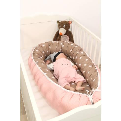 Gnezdece za dojenčka, roza-bež