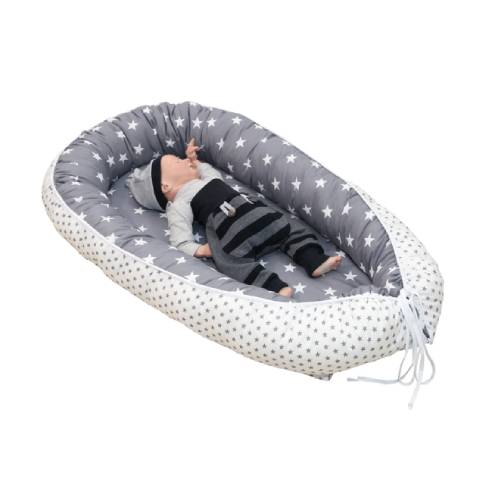 Gnezdo za dojenčka siva 05