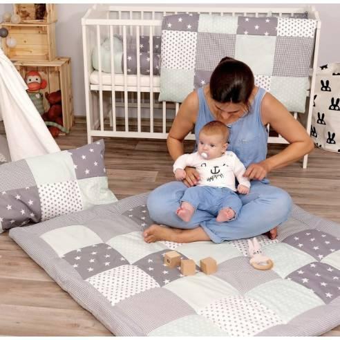 igalna podloga za dojenčka, ootroka mint-siva 07