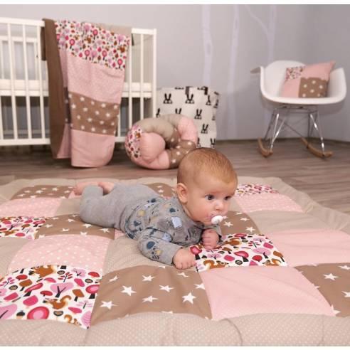 igalna podloga za dojenčka, ootroka peščeno-roza 01