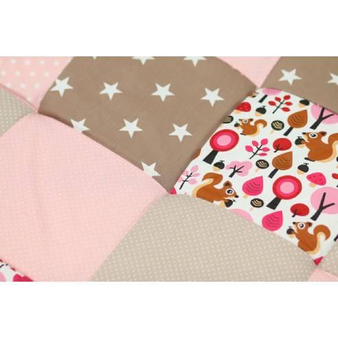 igalna podloga za dojenčka, ootroka peščeno-roza 05