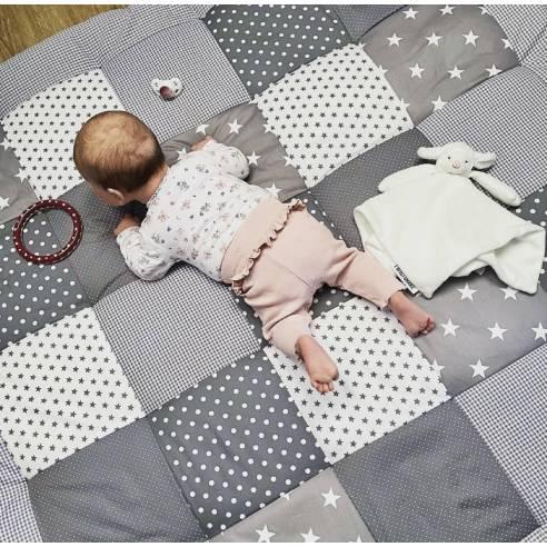 igalna podloga za dojenčka, ootroka siva 05